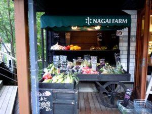 ナガイファーム店頭にある摂れたて新鮮野菜